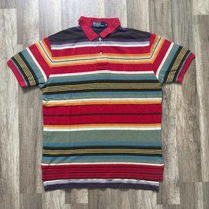 Vintage 90s Polo Ralph Lauren Stripe Golf Polo